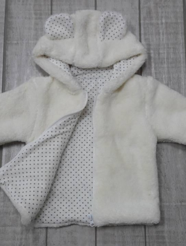 Курточка с ушками (на замке), велсофт