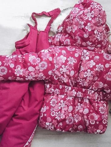 Комплект для девочки, Мембрана. Зима/Осень (съемн. мех. жилетка)