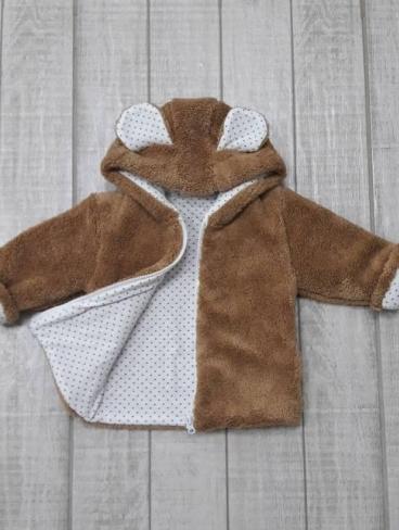 Курточка с ушками (велсофт), на замке