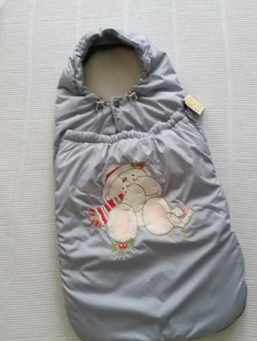 Конверт для новорожденных зима (мех,синтепон)