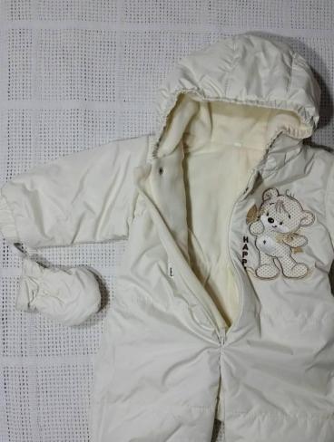 Осенний комбинезон на синтепоне для новорожденных