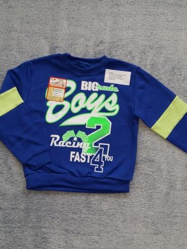 Синий спортивный джемпер для мальчика 3 лет