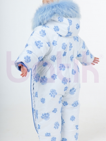 Комбинезон голубой (зима), Батик