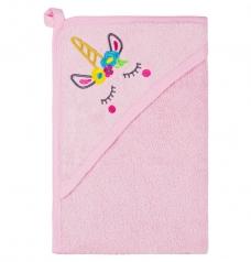 Полотенце махровое с уголком, Розовый
