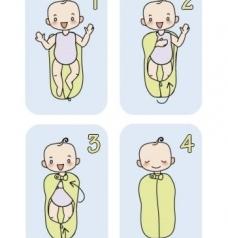 как одеть пеленку-кокон