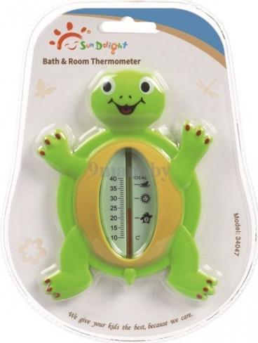 SUN DELIGHT термометр черепашка зеленый 34047