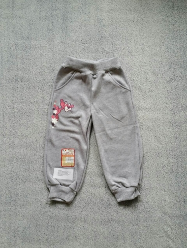 Серые спортивные брюки для девочки