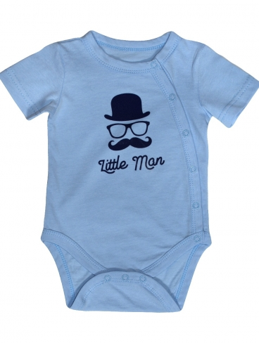 "Боди ""Little man"", голубой"