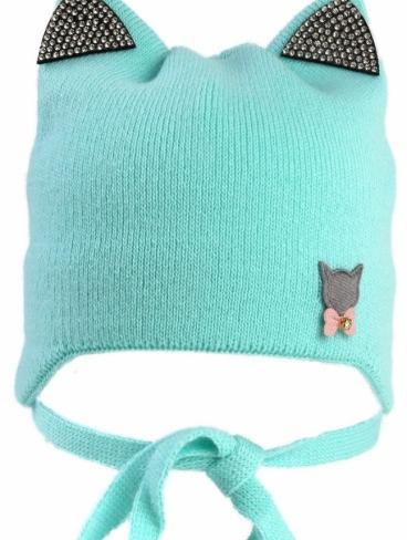 Детские шапки Котик 42-44 размер на весну-осень