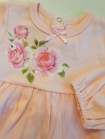 """Платье """"Розы"""" с фатиновой юбочкой, Luneva"""