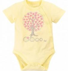 """Боди """"Tree"""" (кор\рукав), желтый"""