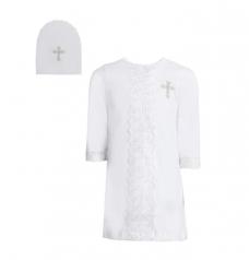 Набор крестильный (рубашка, шапочка)