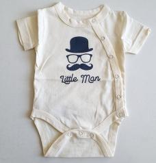 """Боди """"Little man"""", молочный"""